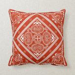 Almohada de tiro del diseño del rojo y del blanco