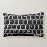 Almohada de tiro del diseño del teclado de ordenad