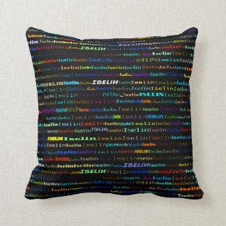 Almohada de tiro del diseño I del texto de Iselin