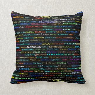Almohada de tiro del diseño I del texto del río de Cojín Decorativo