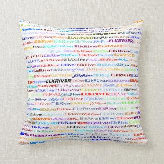 Almohada de tiro del diseño II del texto del río Cojín Decorativo