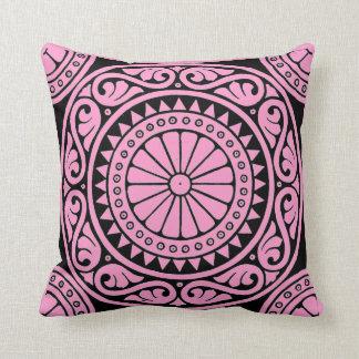 Almohada de tiro del diseño moderno del rosa y del