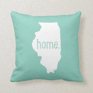 Almohada de tiro del estado de origen de Illinois