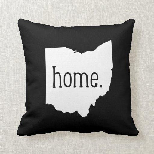 Almohada de tiro del estado de origen de Ohio