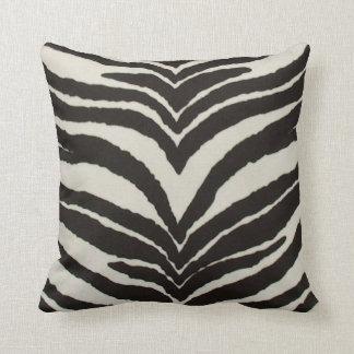 Almohada de tiro del estampado de zebra