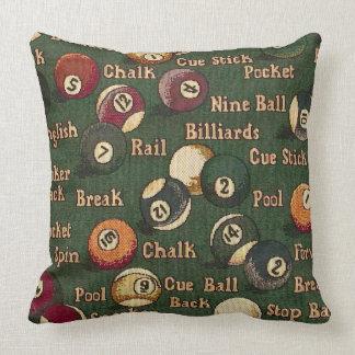 Almohada de tiro del fondo de las bolas de billar cojín decorativo