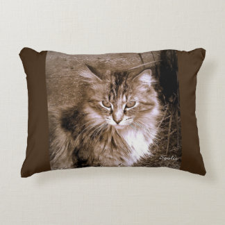Almohada de tiro del gato de Coon de Maine de la