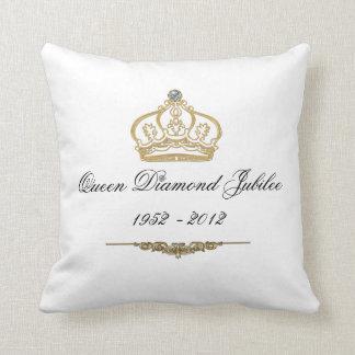 Almohada de tiro del jubileo de diamante del Queen