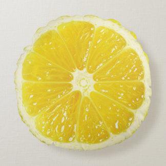 Almohada de tiro del limón cojín redondo