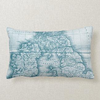 Almohada de tiro del mapa de la antigüedad del Vie