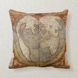 Almohada de tiro del mapa de Viejo Mundo