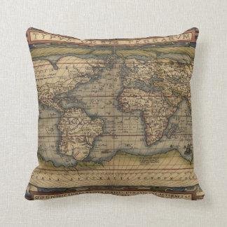 Almohada de tiro del mapa del mundo de Ortelius