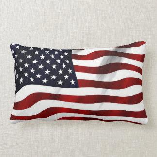 Almohada de tiro del modelo de la bandera american