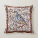 Almohada de tiro del mosaico del pájaro de Kos