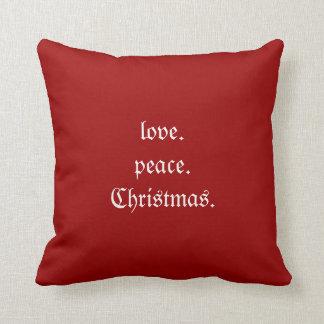 Almohada de tiro del navidad de la paz del amor