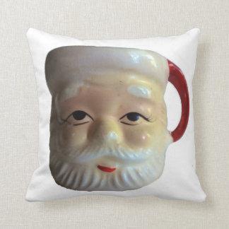 Almohada de tiro del navidad de la taza de Santa