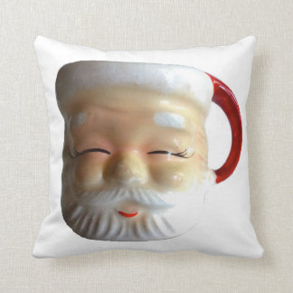 Almohada de tiro del navidad de la taza de Santa d