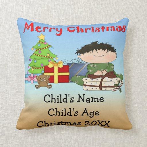 Almohada de tiro del niño pequeño del navidad