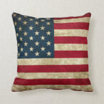 Almohada de tiro del orgullo de la bandera america