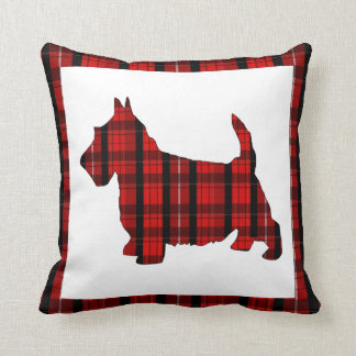 Almohada de tiro del perro del escocés de la tela