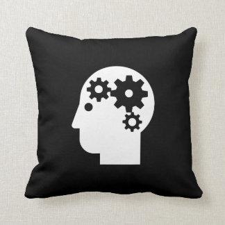 Almohada de tiro del pictograma de la salud mental