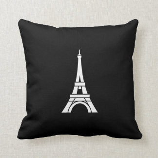 Almohada de tiro del pictograma de la torre Eiffel Cojín Decorativo