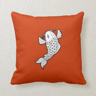Almohada de tiro del pictograma del 鯉 de Koi/de la