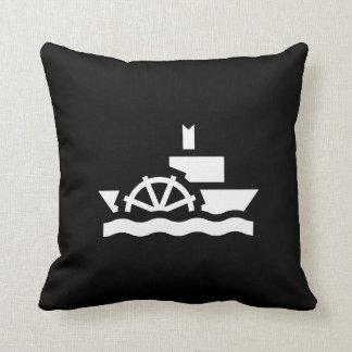 Almohada de tiro del pictograma del barco de vapor