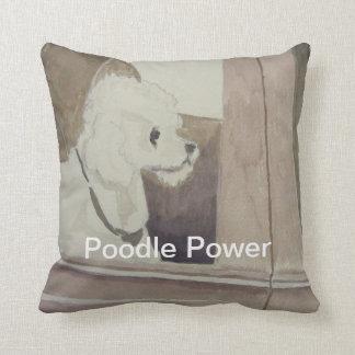 Almohada de tiro del poder del caniche