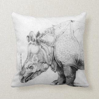 Almohada de tiro del rinoceronte de Albrecht Durer