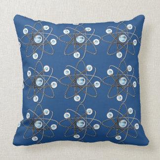 Almohada de tiro del símbolo del átomo del friki