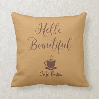 Almohada de tiro del sueño de belleza de Café