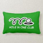 Almohada de tiro del tema del golf con cita divert