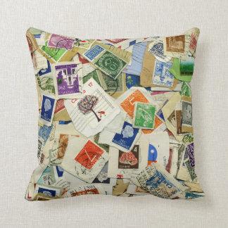 Almohada de tiro del viaje del collage del sello cojín decorativo