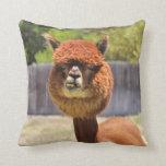 Almohada de tiro divertida de la alpaca