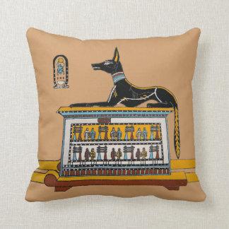 Almohada de tiro egipcia del perro