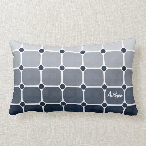Almohada de tiro elegante urbana - azul prusiano
