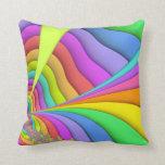 Almohada de tiro en colores pastel del fractal del