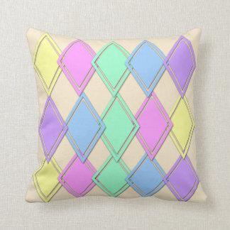 Almohada de tiro en colores pastel del modelo del