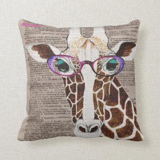 Almohada de tiro enrrollada alterada de la jirafa
