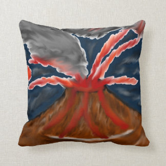 Almohada de tiro estilizada del volcán cojín decorativo