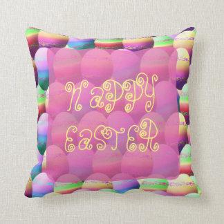 Almohada de tiro feliz colorida de los huevos de