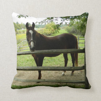Almohada de tiro feliz del caballo