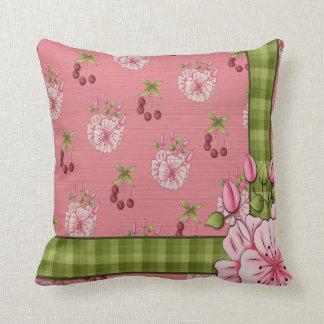 Almohada de tiro floral de MoJo de la tela escoces