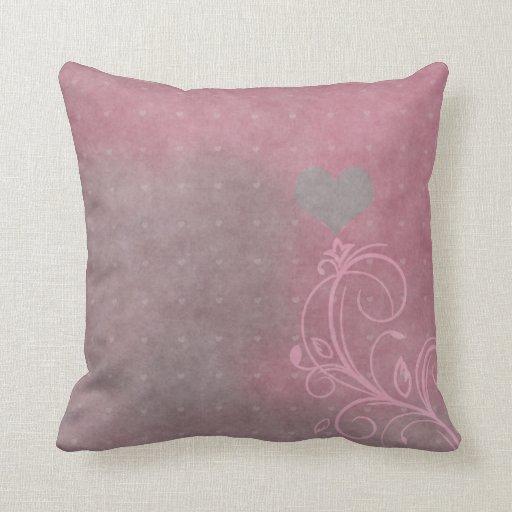 Almohada de tiro floral de MoJo de los corazones d