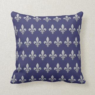 Almohada de tiro floral del azul real de la flor cojín decorativo