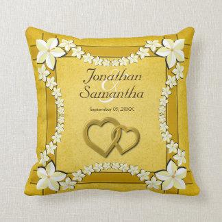 Almohada de tiro floral del cuadrado del boda del