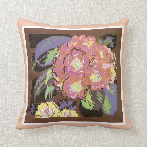 Almohada de tiro floral del vintage