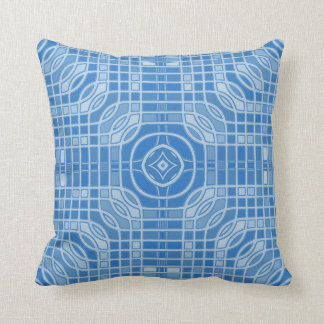 Almohada de tiro geométrica azul de Gameboard