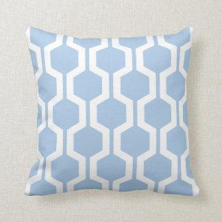 Almohada de tiro geométrica en azul apacible